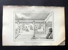 L'Univers C1850 Antique Print. Exterior of Ancient Temple, China 27